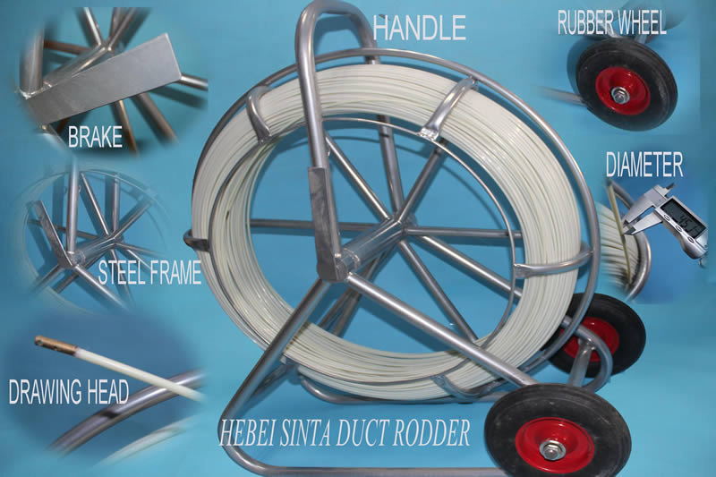 4.5mm portable duct rodder 1